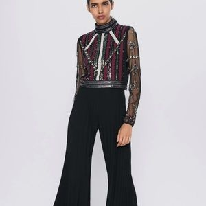 Zara crotchet sequin top